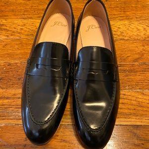 JCrew Black Leather Loafer